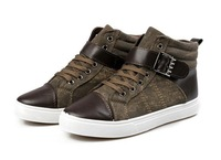 Birdthree Autumn/winter men sneakers high top warm canvas shoes fashion casual man shoes breathable good quality board shoes