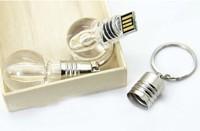 Light Bulb Shaped USB Flash Drive 8GB 16GB 32GB U disk USB drive 64g flash stick pen drive/disk/car/Gift Freeship