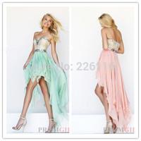 vestido new vestido de formatura 2014 latest sweetheart low sleeveless front back long college graduation girl's dressesbridalk