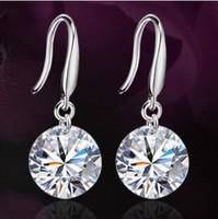 3pairs/1Lot Fashion beautiful earrings female high-end banquet glittering zircon eight heart, eight arrows