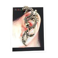new market complex Guge Te popular European and American trade wind cross flower snake ear clip