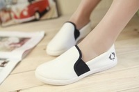 new super comfortable casual Flat shoes  women Canvas shoes   white shoes