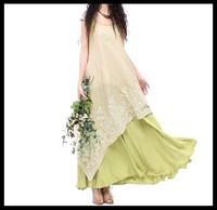 wholesale 2014 women vintage embroidery  floor-length dress
