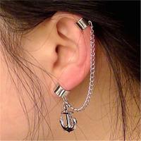 Mix air Su anchor non pierced ear clip co silver ear hanging