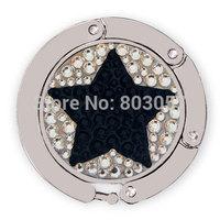 2014 Hot Free shipping(20pcs/lot) Wholesale Fashion 100% handmade Stars crystal purse hook