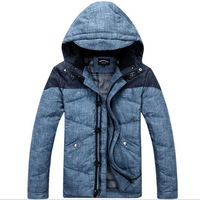 2014 Men's Down jacket With Hood 90% Duck Down Winter Overcoat Autumn Outwear Winter Coat Free Shipping 1816