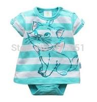 2014 New summer brand 100% cotton 0-24M baby girl Dress Romper girls jumpsuit newborn infant girl skirt romper
