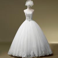 2014 Top Fashion Vestidos De Novia Fashionable Romantic Wedding Formal Dress Tube Top Rhinestone Bandage Diamond Gownbridalk
