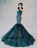 Fashion Blue Dress Clothes For Barbie Dolls
