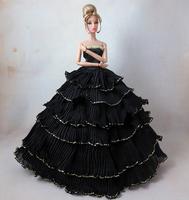 Fashion Wedding Dress Black Clothes For Barbie Dolls