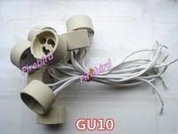 10 x GU10 lamp holder, Gu10 led socket, MAX 250V/ 250T show lamp holder, free shipping