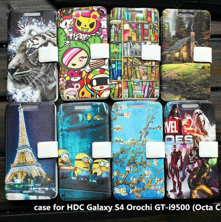 PU leather case for HDC Galaxy S4 Orochi GT i9500 Octa Core case cover