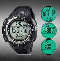 SHORS Unisex Mountain climbing Sports 3ATM Waterproof Digital Display Quartz Watch Military Multifunctional watch Free shipping