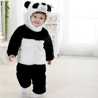 Winter new children's clothing wholesale factory direct plus cotton panda suit