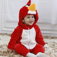 Red bird shape Romper climbing clothing infant Romper dress