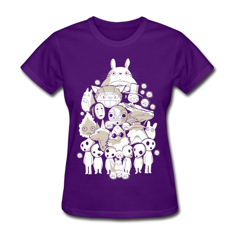 Casual Women Tee Shirt My Neighborhood Friends totoro Spirited Away no face Design Funny Icons Women's T Shirts Drop shipping(China (Mainland))