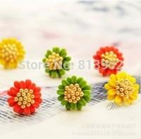 2014 New Arrival Fashion Korea Style Sweet Cute Lovely Flower Chrysanthemum Stud Earrings for Women Jewelry Gifts 3pcs/lot