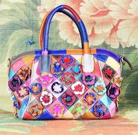 Hot New Fashion Designer Handbags 100% Genuine Leather Women Bags Women Messenger Bag Flower Totes Cowhide Shoulder Bags 418