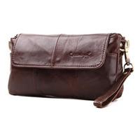 2014 New Fresh Vintage Casual Style Genuine Leather Clutch Bags For Women Brand Handbag Wristlet Zipper Bag Small Shoulder Bag