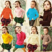 foreign trade children's clothing wholesale autumn paragraph wool lycra children turtleneck shirt primer shirt T-shirt Sweater