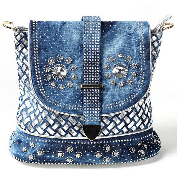 big school bags casual cute denim jean women backpack for travel bags ...