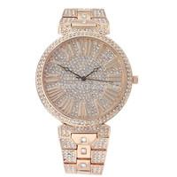 High quality Full diamond GOLD Fashion LUXRUY WOMEN DRESS rhinestone quartz Sport Watch,stainless steel WristWatch Female clock