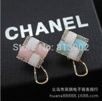 3pcs/lot South Korea Gem set auger delicate earrings  earrings free shipping!