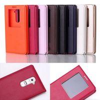 Free Shipping luxury Quick Window Convenient Folio Case Flip Cover for LG Optimus G2 D802 803