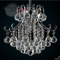 FREE SHIPPING 40CM Chandeliers Details about Modern Crystal LED Lamp Fashion Lighting Rain Drop Chandelier