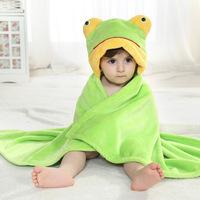 2014 Spring models hold infants were flannel single frog cloak hold to be