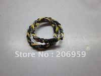 wholesales titanium 3 ropes necklaces titanium magnetic balance sport custom necklace 16/18/20/22 inch 100pcs/lot free shipping