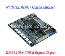 vendita della fabbrica d525 scheda madre 6 porte gigabit ethernet ros wayos firewall scheda madre D52SL 3 g wifi ssd 2 com 2SATA cf ide dc12v(China (Mainland))