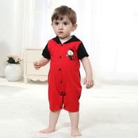 2014 summer new cotton Romper Infant jumpsuit climbing clothes ladybug