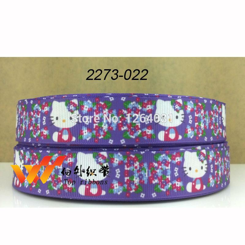 "free shipping 2014 new arrival 7/8"" (22mm) hello kitty ribbon ribbons cloth tape 50 yards 2273-022(China (Mainland))"
