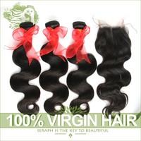 Cheap Brazilian Hair Body Wave 6A Unprocessed Rosa Virgin Brazilian Hair Weave 3Pcs With Free Part Closure Human Hair Extension