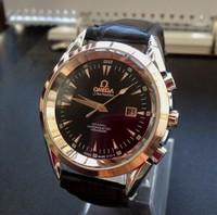 Free shipping new brand men's quartz watch fashion men's business casual belt calendar watch