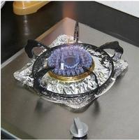 Free shipping 10pcs/lot Gas burner aluminum foil dish high-temperature oil clean pad