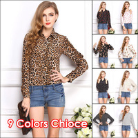 9 Chioce White Black Long Sleeve Women Blouses & Shirts Kiss Red Lip Print Casual Top, Silk LIke With Button Closure Plus Size