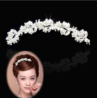 100% brand new Korean models bridal crown crystal hair accessories Free shipping
