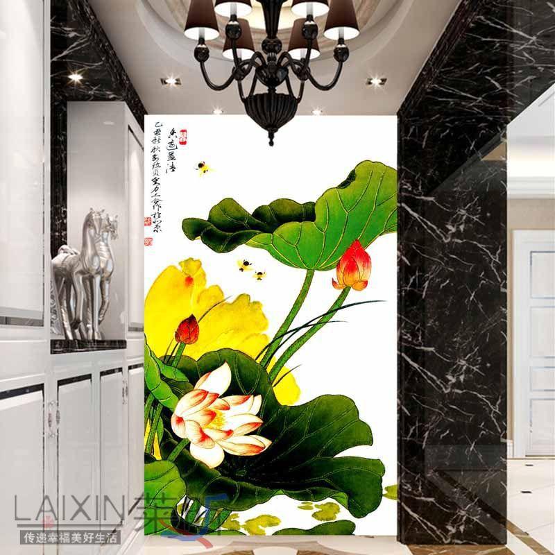Pasillo pasillo de entrada papel pintado pared tv - Papel pintado entrada ...