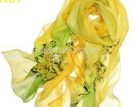 Free shipping Wholesale female models classic silk chiffon scarf silk scarf feel scarf