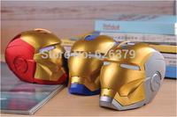 Free ship!Top quallity Iron Man Bluetooth 3.0 Speaker Mini HiFi Boombox Support Handfree TF Card /U-Disk,Retail Package