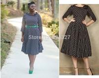 Wholesale Hot Sale New Fashion Autumn Polka Dot Party Evening Women Dresses Size S M L XL XXL