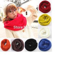 Fashion style Unisex Scarf Winter knitting Wool Collar Neck Warmer woman Ring Scarf Shawl Scarves