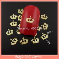 MNS532  crown nail art decoration gel nail polish stickers gold metal nail art slices 1000pcs/pack