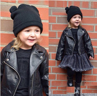 New arrival brand design swagger baby kid's short motorcycle jacket spring autumn PU leather coat bike blazer cool outerwear
