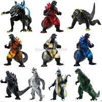 10Pcs/  Godzilla Monsters Mechagodzilla Trendmaster Gigan Anguirus Action Toy Figure