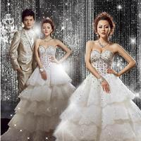 Fashion Luxury Diamond Sexy vestidos femininos bridal gown lace plus size wedding dress vestido de noivas wedding dresses W57