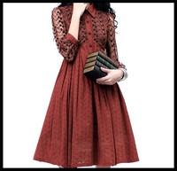 wholesale 2014 Summer women vintage Lace Embroidery patchwork dress A6023