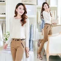 Free Shipping 2014 Autumn Women's 1395 White Top Blouses Shirts